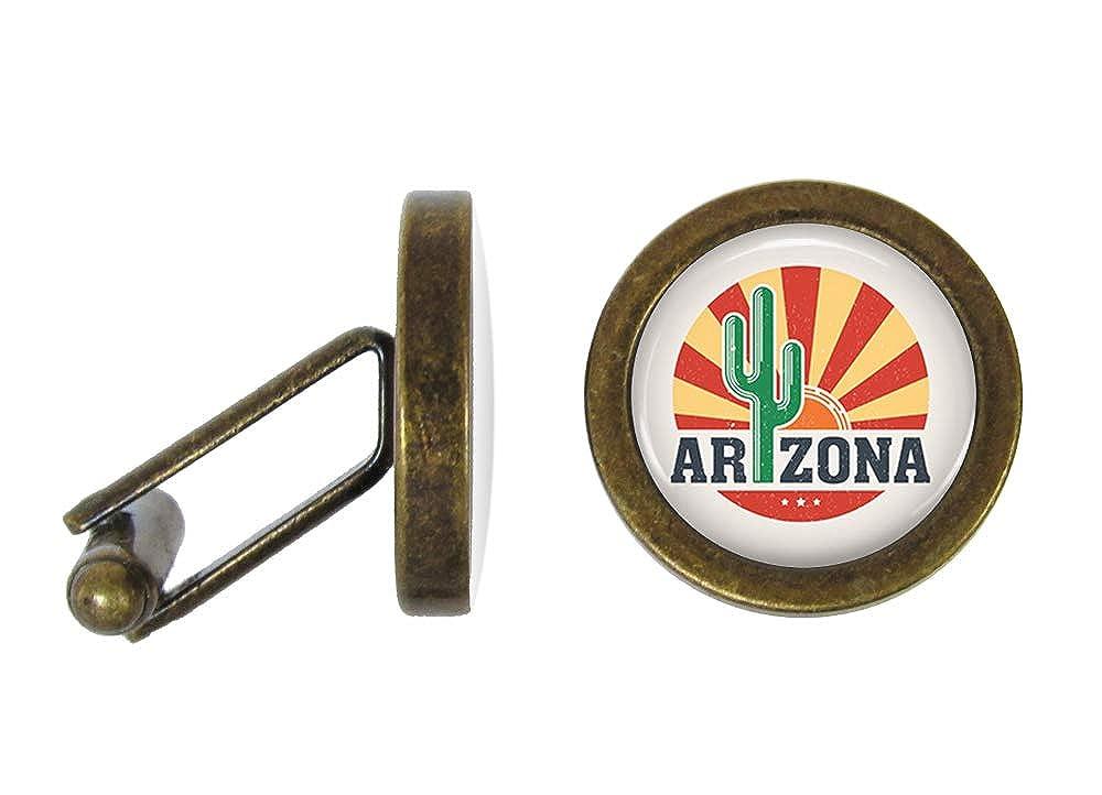 Angled Edition Oakmont Cufflinks Arizona Cufflinks Saguaro Cactus Cuff Links