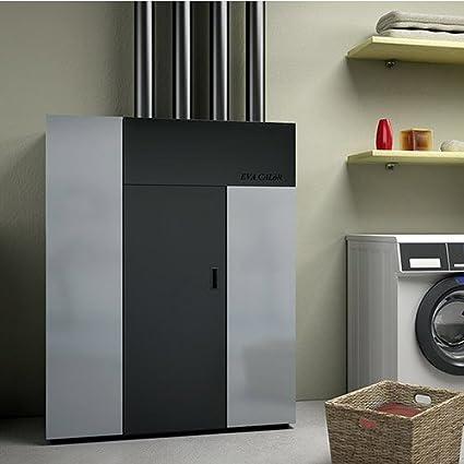 Estufa Caldera de aire Eva calor Futura 18 KW Negro groffato