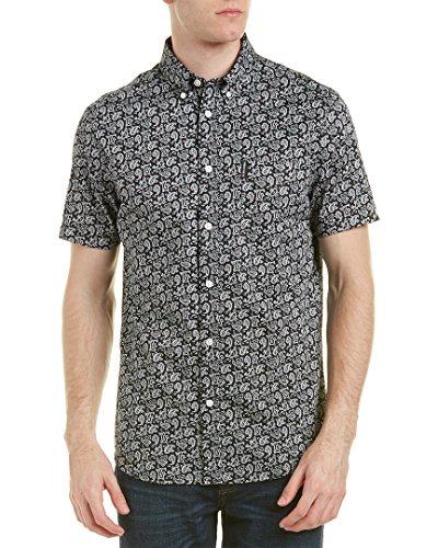 ben-sherman-mens-short-sleeve-paisley-shirt-tbl-true-black-large