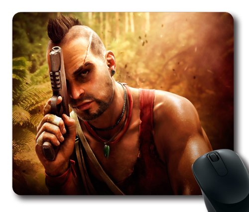 Vaas far cry rectangle mouse pad by icasepersonalized