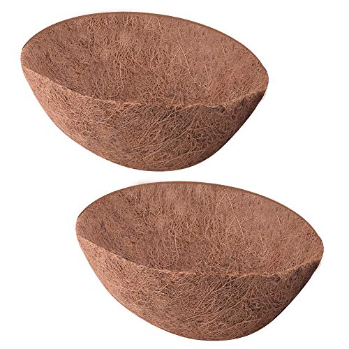 Coir Coconut Liner - WXJ13 2 Pack Coco Fiber Replacement Flowerpot Liner Hanging Coconut Palm Hanging Pot, 8 Inch, Basket Shaped