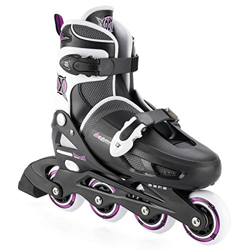 批判的世代変位Xootz Girl 's Inline Skates調節可能な、パッド入りローラーブレード
