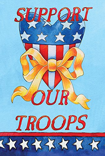 Toland Home Garden  Support Our Troops 28 x 40-Inch Decorative USA-Produced House Flag