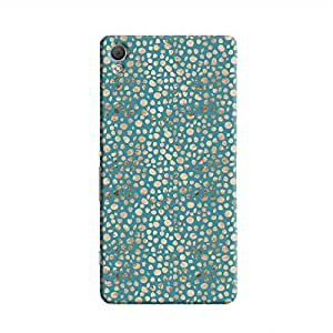 Cover it up - Brown Blue Pebbles Mosaic Xperia Z3 Hard Case