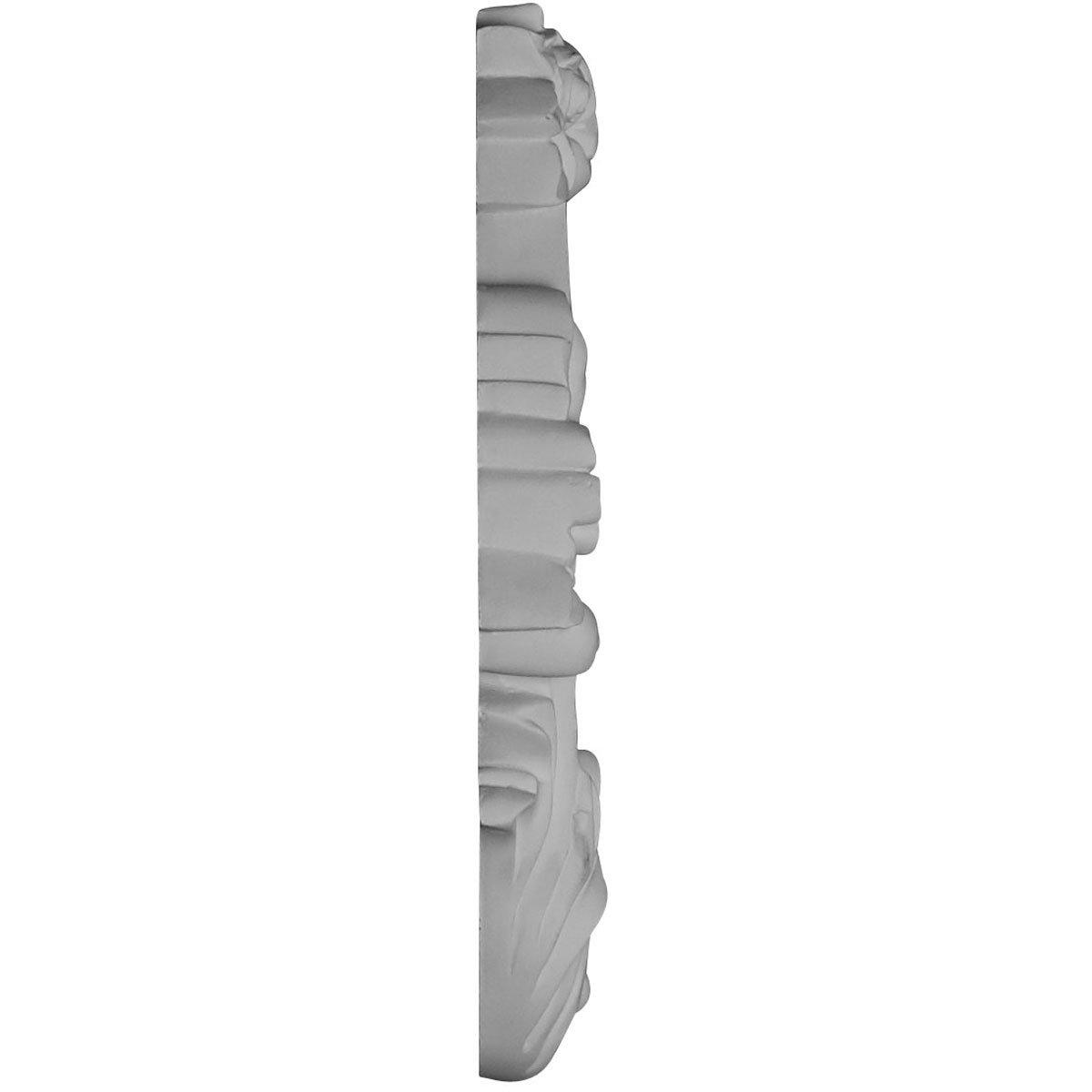 Factory Primed White Ekena Millwork ONL04X08X01ZA-R 4 1//2W x 8 5//8H x 1P Zadlo Onlay Right