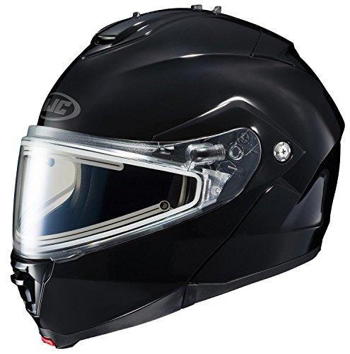 HJC IS-MAX2SN Solid Modular Snow Helmet Frameless Electric Shield (Black, X-Large)