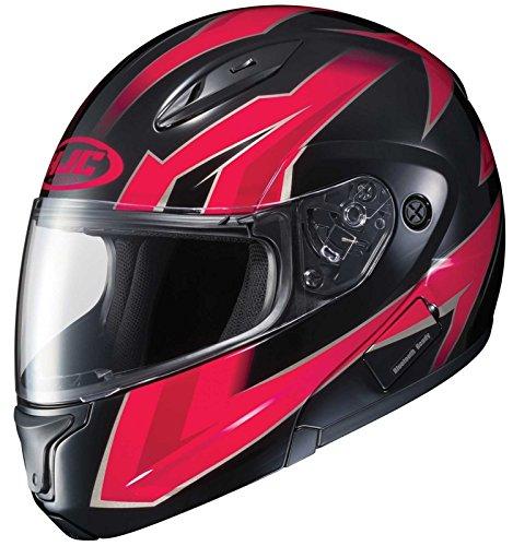 HJC CL-Max2 Ridge Modular/Flip Up Motorcycle Helmet (Red/Black, Large)