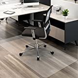 MATDOM Chair Mat for Hard Floors,36''×48'' Thick PVC Desk Floor Mat Rectangle for Office or Home,High Impact Strength,Life Time Guarrantee,Transparent.