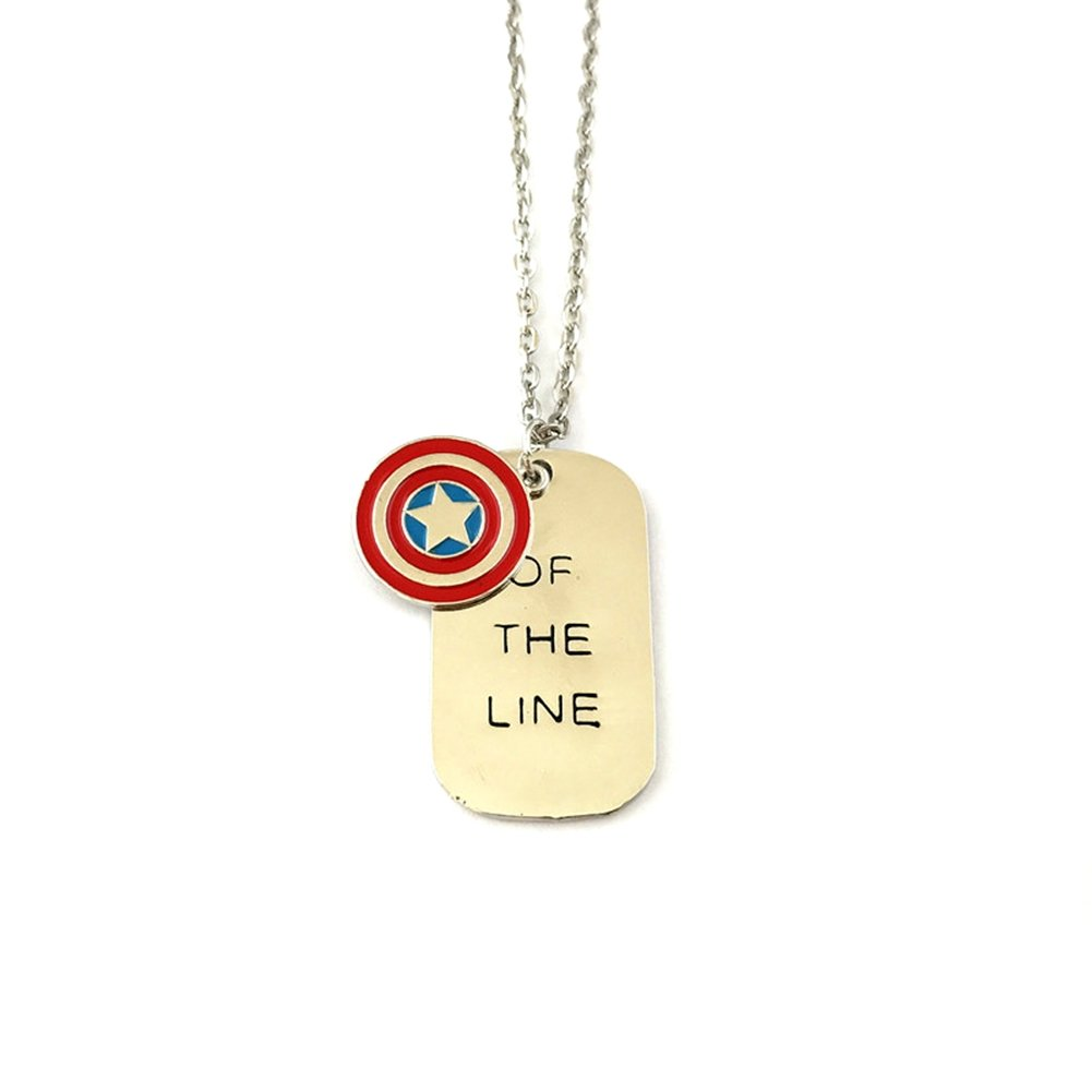 J&C Family Owned Captain America Winter Soldier Costume Gift Children Adult Necklace w/Gift Box