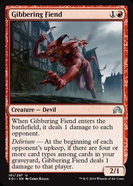 Magic: the Gathering - Gibbering Fiend - Shadows Over Innistrad