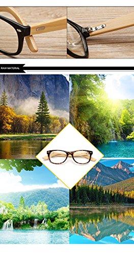 Hombres Mujer Personalidad La para Protección De A C Gafas De Marco para Los Madera Sol Ultravioleta Aviador del 400 De del qtfx8P