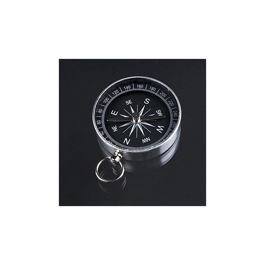 Lightweight Aluminum Camping traval Mini Compass Hiking Navigation American Style Metal compass