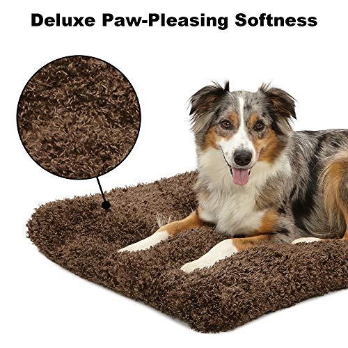Plush Dog Bed | Coco Chic Dog Bed & Cat Bed | Cocoa 42L x 26W x 2.5H - Inches for Large Dog Breeds