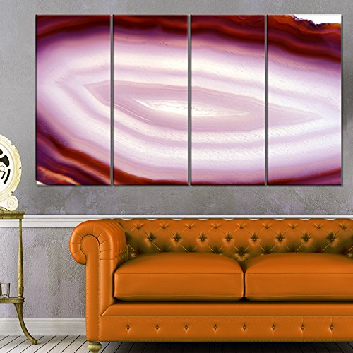 Pink Agate Geode Geological Crystals Large Abstract Canvas Artwork