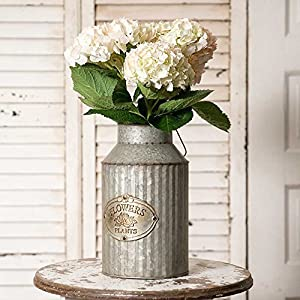 Vintage Industrial Farmhouse Chic Flowers and Plants Can with Handle (Does Not Come With Flowers) 97