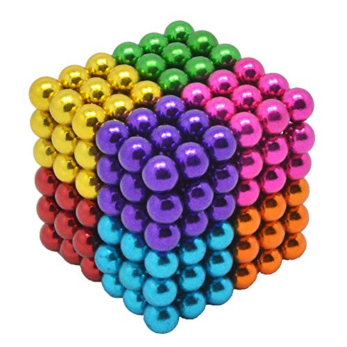 HAJUGADOR 5MM 216 Pieces Magnetic Ball Set Sculpture Building Blocks Toys Perfect for Crafts, Intelligence Learning Magnets Cube Provides Relief for Anxiety, Autism, ADHD (8 Color, 5MM)