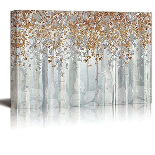 Abstract Trees with Golden Leaves Gallery