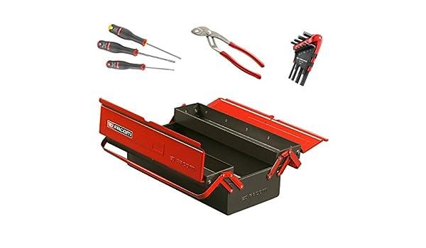 Facom BT.9cmwb caja de herramientas metálico 3 cases con 13 herramientas, negro: Amazon.es: Bricolaje y herramientas