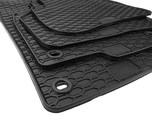 NEU! Gummimatten VW Passat B6 B7 3C + CC Fußmatten Gummi Original Qualität Auto Allwetter 4-teilig schwarz oval Drehknebel