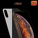 JingooBon Back Screen Protector Compatible with iPhone Xs Max [2-Pack], Rear Tempered Glass [3D Touch] Temper Glass Film Anti-Fingerprint/Scratch Compatible with iPhoneXs Max (6.5 inch)