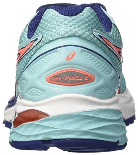 Asics Gel-Pulse 8, Zapatillas de Running para Mujer Azul (Aqua Splash /     Flash Coral /     Indigo Blue)