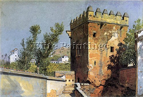 HASELTINE WILLIAM STANLEY VIEW FROM ALHAMBRA SPAIN ARTIST PAINTING OIL CANVA ART 16x24inch MUSEUM QUALITY by Elite-Paintings
