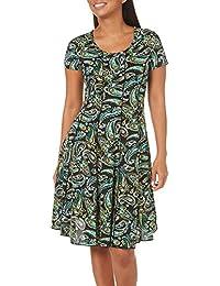 Womens Whimsical Paisley Panel Dress