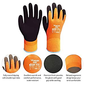 Lowes Work Gloves >> Wonder Grip Wg 338 Thermo Plus Coldproof Work Gloves Double