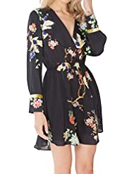 Hale Bob Natural Charm Faux Wrap Dress - Black