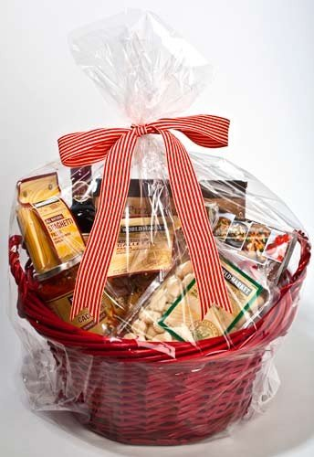 ClearBags 18 x 24 Large Holiday Gift Basket Bags | Perfect for Christmas Parties Gift and Food Baskets | Clear Cello Gift Bag with Large Round Bottom | Food Safe Materials | RB1824 (Pack of 100) by ClearBags (Image #1)