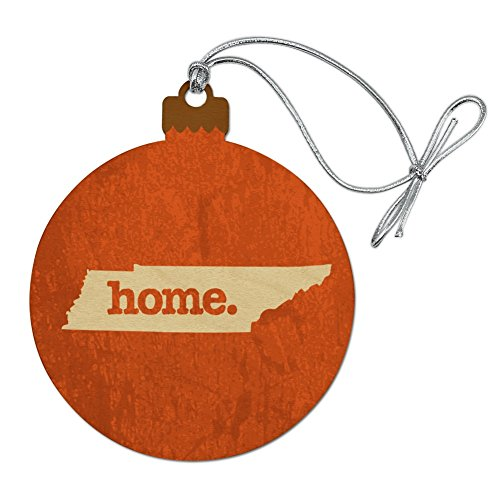 - Graphics and More Tennessee TN Home State Textured Orange Officially Licensed Wood Christmas Tree Holiday Ornament