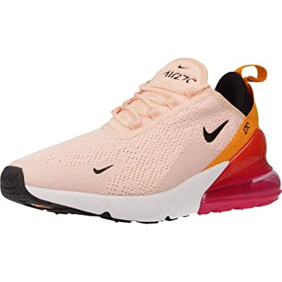 the best attitude a86a5 404a7 Nike W Air Max 270 Womens Sneakers AH6789-603, Washed Coral/Black-Laser  Fuchsia, Size US 9.5