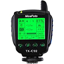 NiceFoto TX-C02 2.4G TTL Transmitter Support HSS 1/8000s Shutter Speed for Canon DSLR Camera Work with Nicefoto N6 K8 Strobe Flash Light