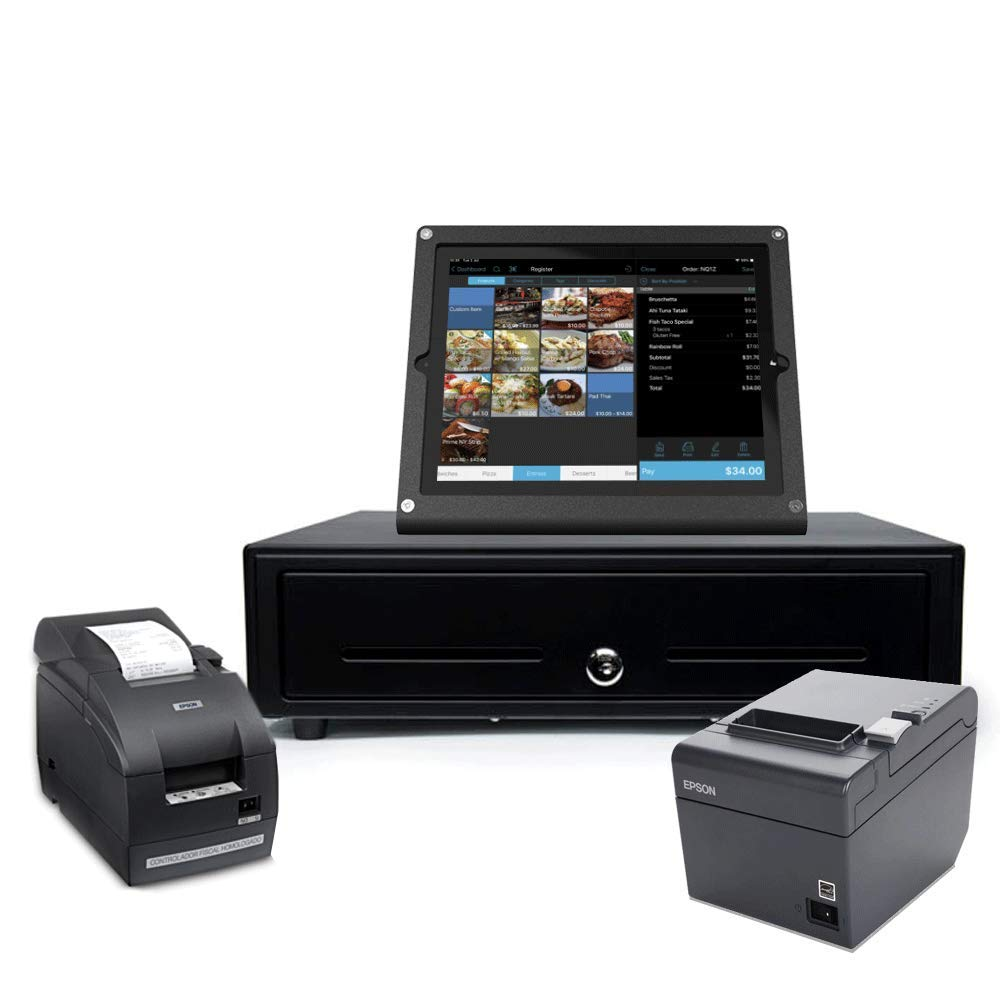 talech's powerful complete point of sale solution for QSR including Epson printers, Star Micronics cash drawer and stylish Heckler iPad stand by Talech POS