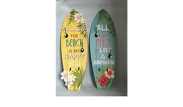 Dorte Hogar.- Perchero cuadro decoración tabla de surf ...