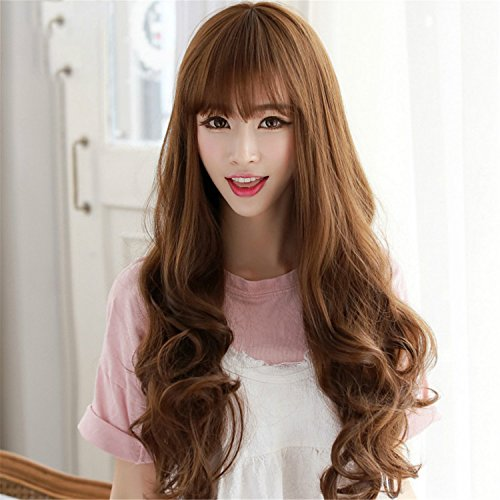 Suuny Queen Natural Long Brown Wig For Anime Naruto Cosplay Figure Hyuga Neji Orochimaru synthetic Costume Wig