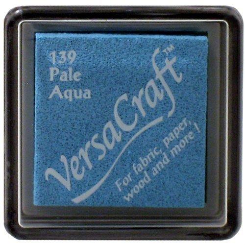 Aqua Home Decor Fabric - Tsukineko Small Size VersaCraft Fabric and Home Decor Crafting Pigment Inkpad, Pale Aqua