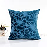 "Woaills Polyester Square 16.9"" Throw Pillow Cushion Cover Cases Perfect For Sofa Library Party Ect (Blue)"
