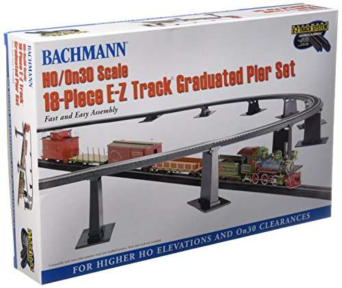 (Bachmann Trains 18 PC. E-Z Track Graduated Pier Set (Compatible with On30))