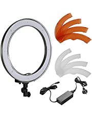 Neewer Camera Photo/Video 14 inches/36centimeters Outer 36W 180 Pieces LED SMD Ring Light 5500K Dimmable Ring Video Light with Plastic Color Filter Set and Universal Adapter with AU Plug
