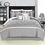 Vermont Grey King 12 Piece Comforter Bed In A Bag Set With Sheet Set