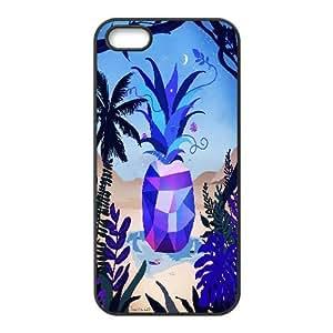 IPhone 5,5S Cases Vero Escalante,Blue, Bloomingbluerose, [Black]