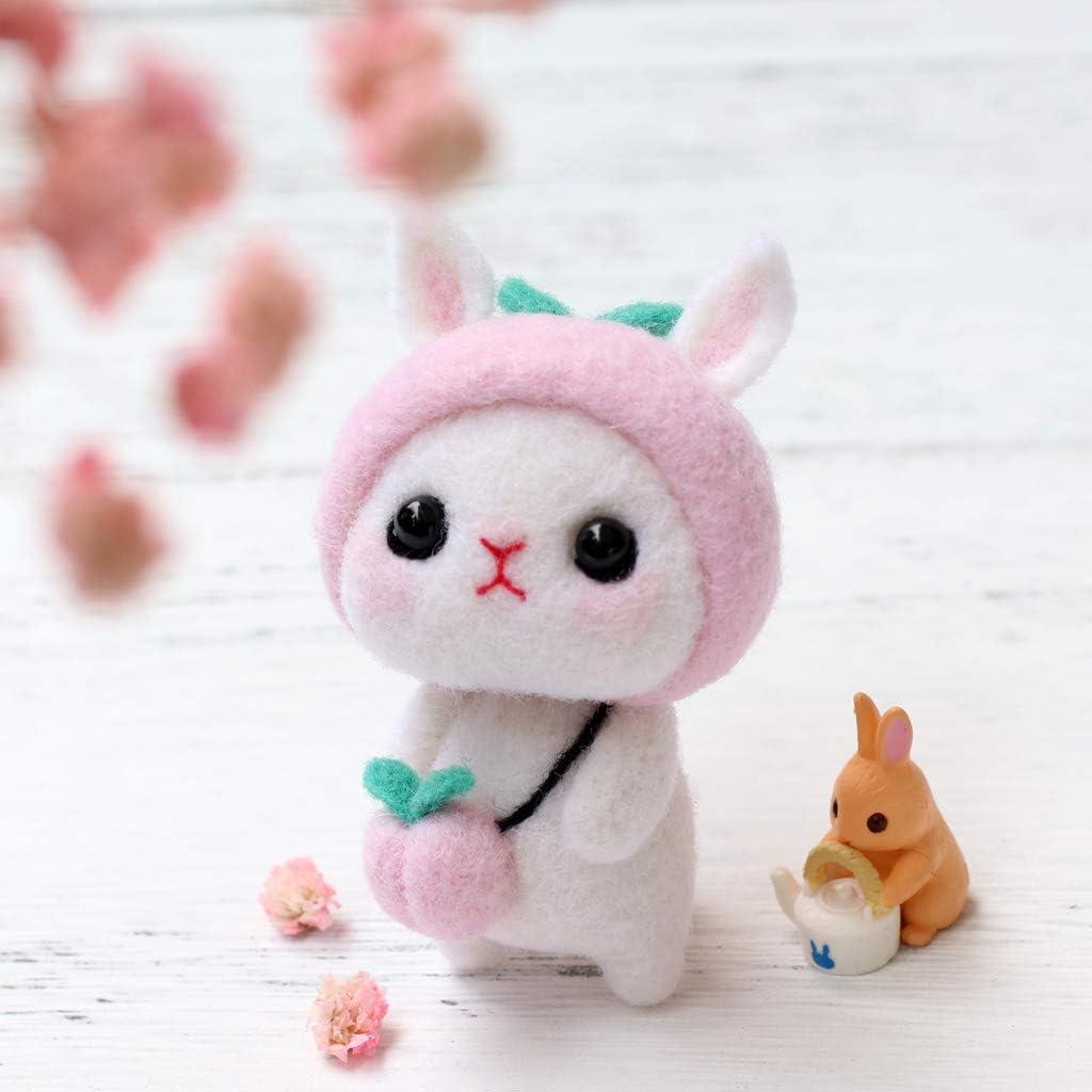 Leidersty Felt Animals Needle Felting Kit Lovely Rabbit DIY 3x2x1.38
