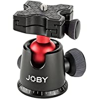 JOBY BallHead 5K. Quick Release Tripod Ball Head for DSLR and Mirrorless Cameras up to 5Kg. Black/Red.
