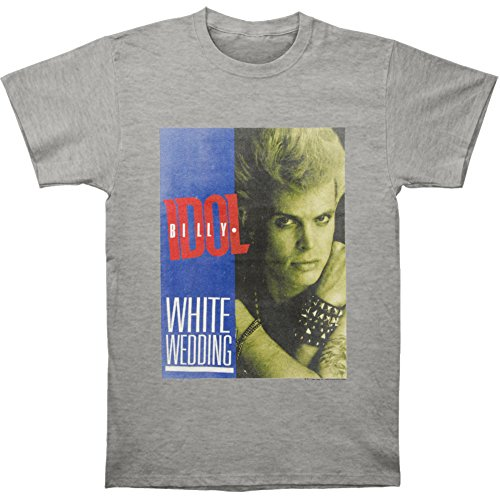 Billy Idol Men's White Wedding T-shirt Small Heather by Billy Idol