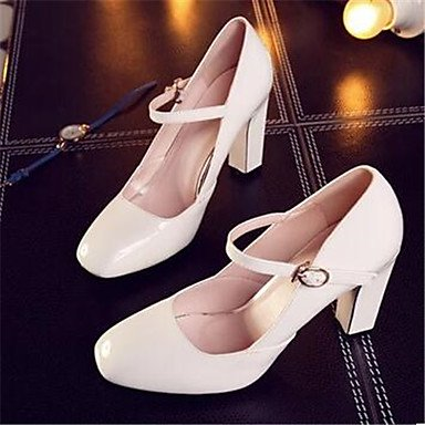 5 Comfort Spring Heels 5 Patent Women'S 4In Comfort 3 CN40 Leather 4In Casual EU39 White US8 Ruby UK6 4 5qTwpRIwnf
