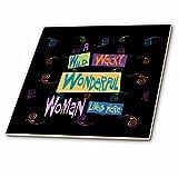 3dRose Wild Wacky Wonderful Woman - Ceramic Tile, 6-inch (ct_18920_2)