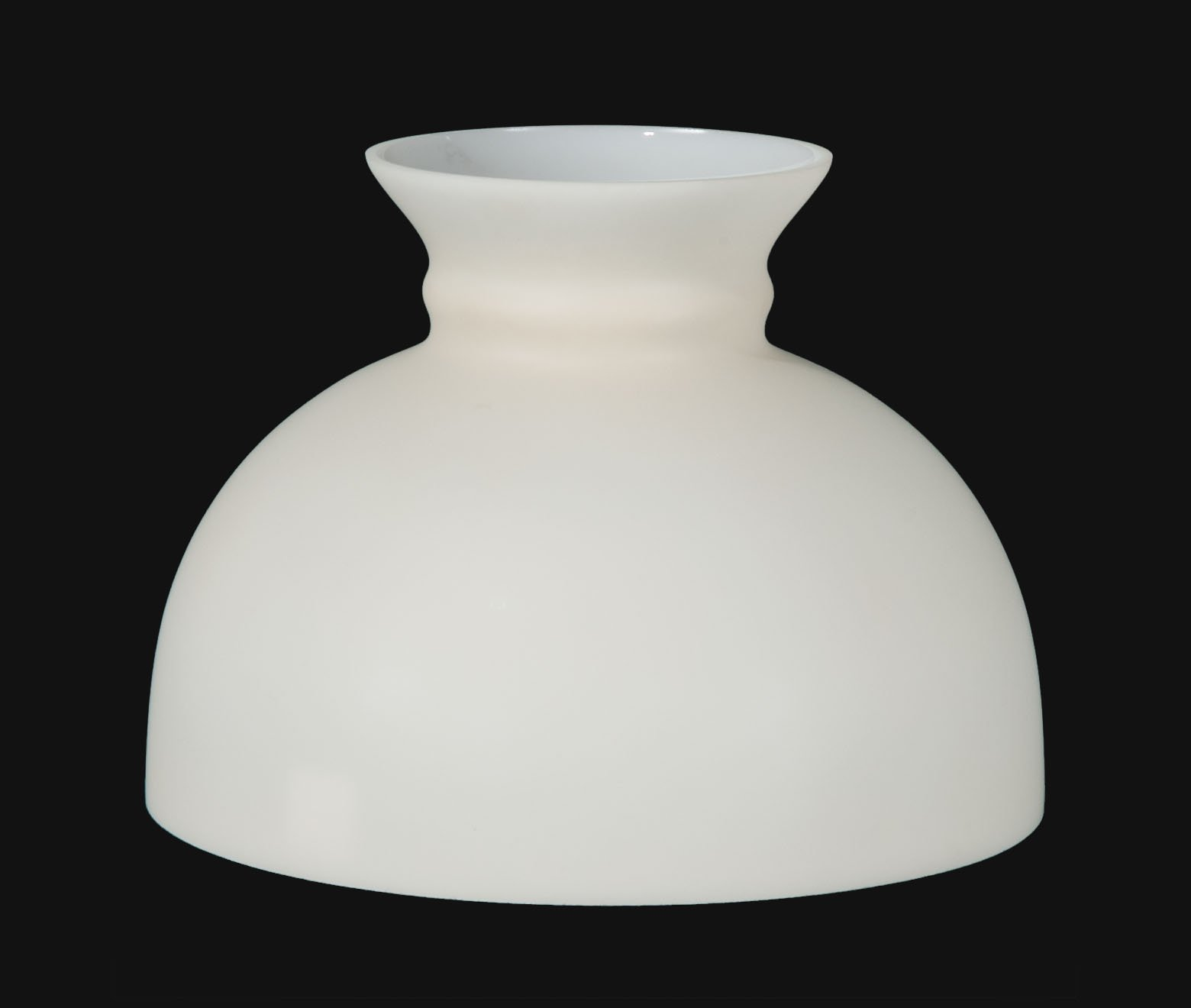 B&P Lamp Opal Glass Student Shade, Beige Background