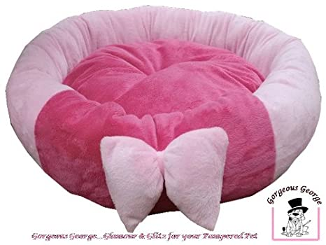 Cama rosa para cama de mascota Perro cesta con un bonito lazo. Ideal para perros de tamaño mediano: Amazon.es: Productos para mascotas