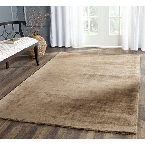 Brown Hand Knotted Wool - Safavieh Mirage Collection MIR331B Hand-Knotted Brown Wool Area Rug (8' x 10')